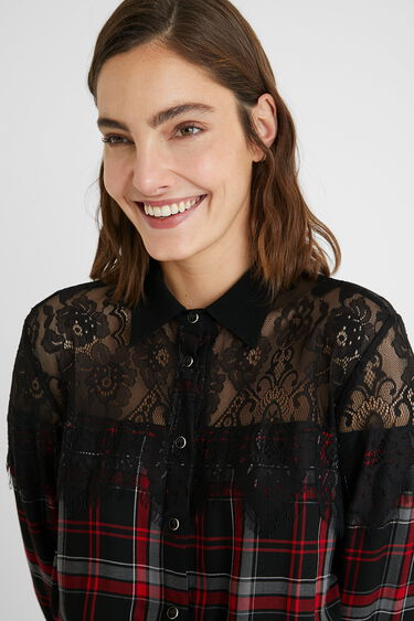 Tartan shirt dress   Desigual