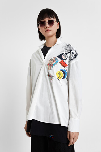 Arty patches blouse