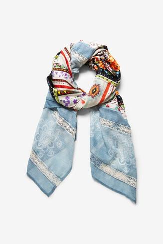 Boho tie-dye foulard
