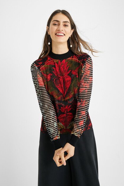 Slim high neck sweater