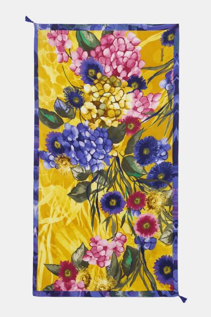 Foulard rectangular flores