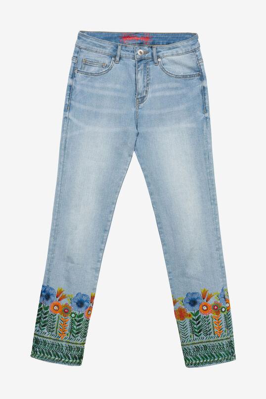 Floral Crop Jeans Copenhagen | Desigual