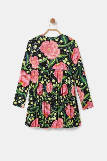Hochgeschnittenes Kleid Blumen | Desigual
