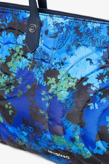Hand- en schoudertas met gebloemde camouflageprint | Desigual