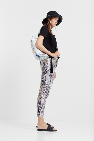 Pantalons slim animal print