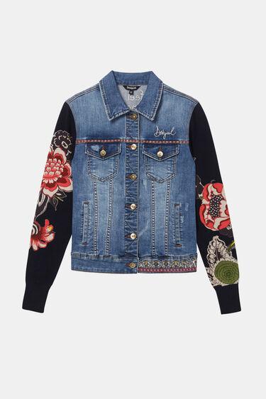 Veste en jean tricot floral | Desigual