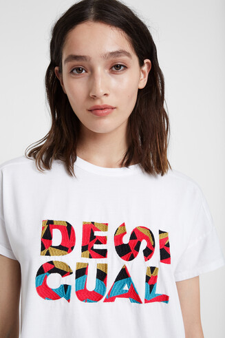 Basic T-shirt met letters