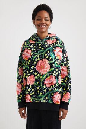 Sweat-shirt oversize capuche