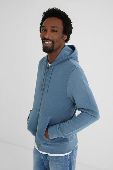 Veste sweat-shirt coton ouaté capuche | Desigual