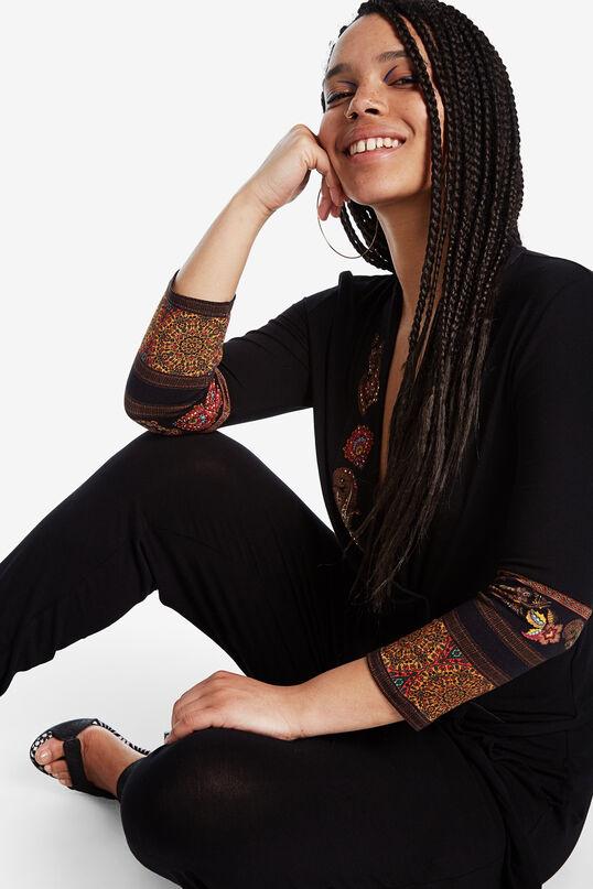Granota negra detalls sanefes ètniques | Desigual