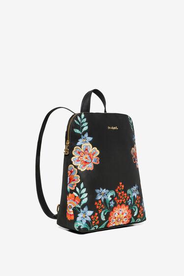 Mochila bordados florais | Desigual
