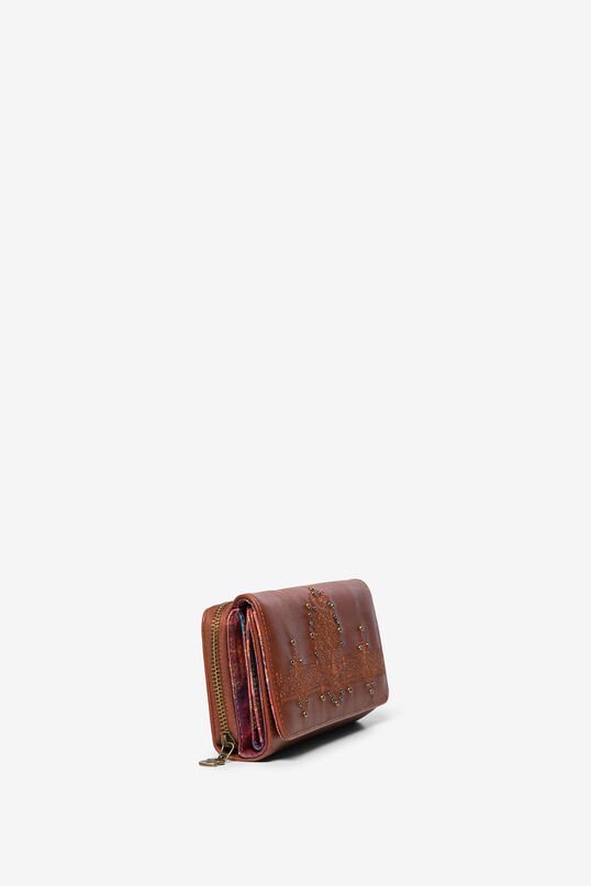 Rectangular wallet, embossed with mini-studs | Desigual