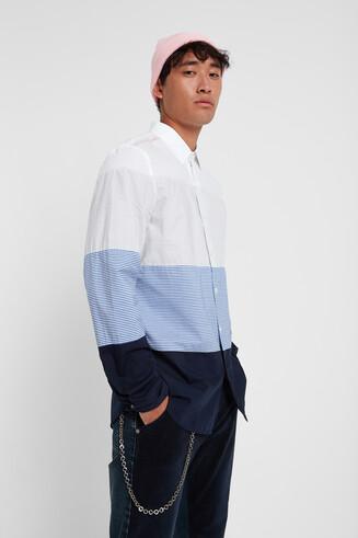 Camicia a righe in 100% cotone