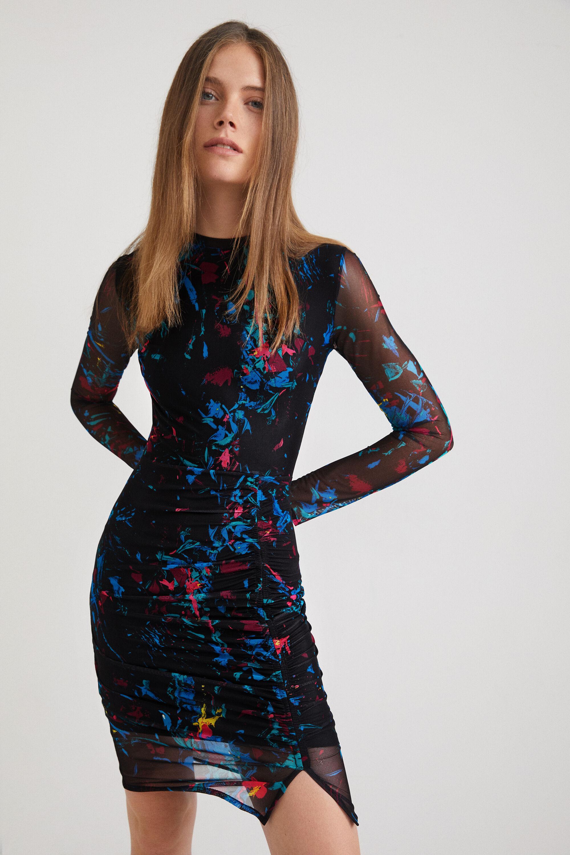 Slim midi-dress - BLACK - XL
