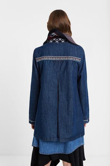 Denim duffle coat hood | Desigual