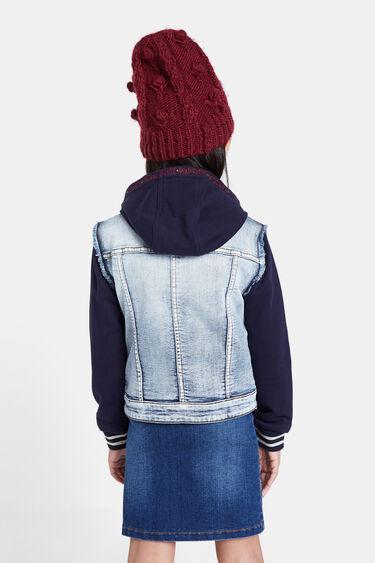 Bimaterial denim jacket | Desigual