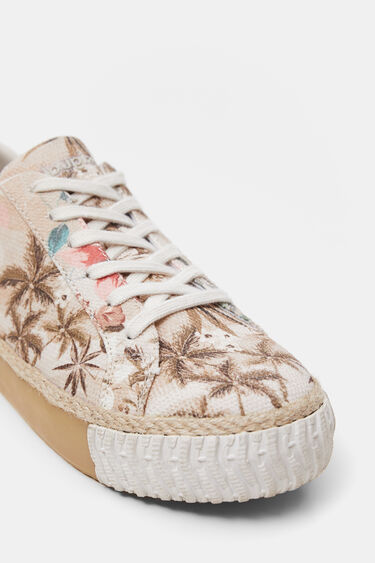 Sneakers met plateauzool in camouflower | Desigual