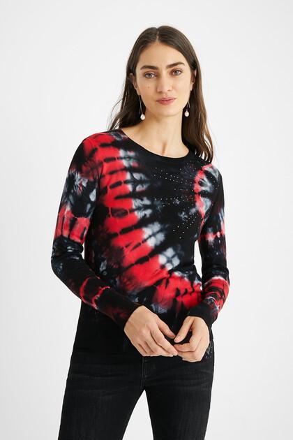 Tie-dye mandala knit jumper