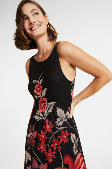 Sleeveless dress back neckline | Desigual