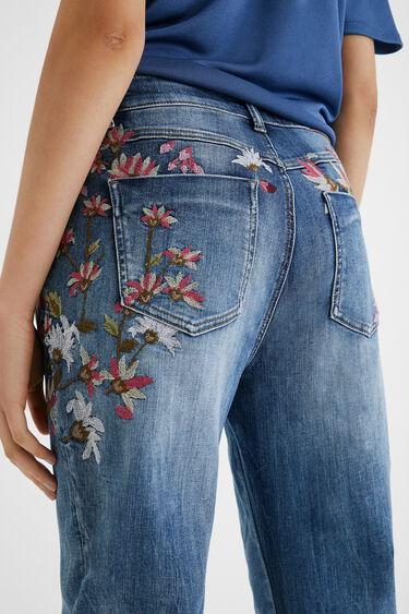 Floral Boyfriend ankle jeans | Desigual