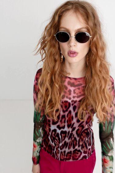 T-shirt à imprimé léopard   Desigual