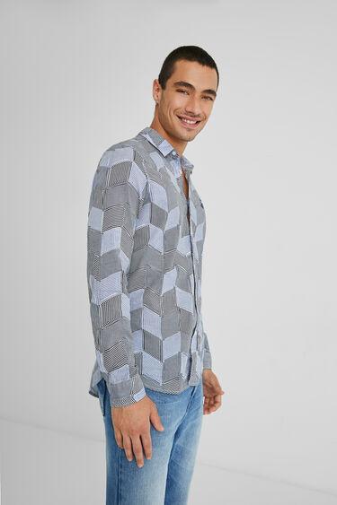 Shirt Diamond Shapes Stripes   Desigual