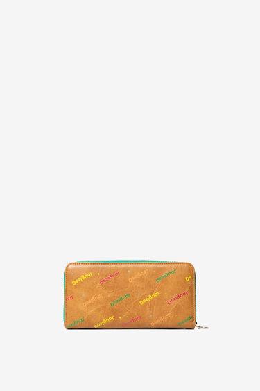 Moneder en logomania multicolor | Desigual