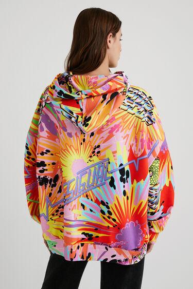 Oversize hooded sweatshirt snakes | Desigual