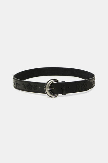 Half moon buckle embossed belt | Desigual