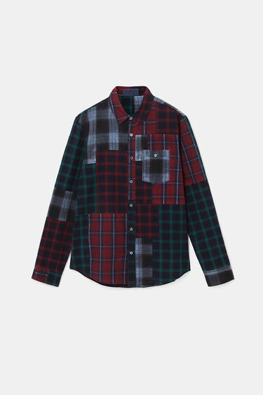 Camisa regular patch tartán | Desigual