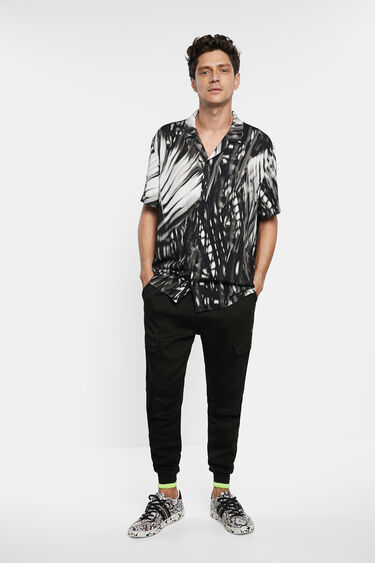 Short sleeve tropical shirt | Desigual