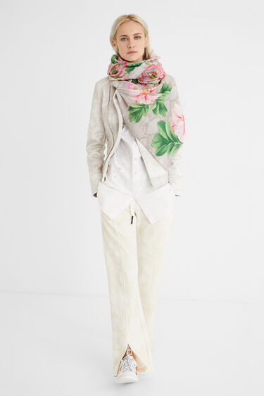 Fulard rectangular flor | Desigual