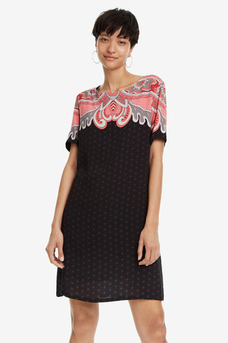 Black Polka Dot Dress Túnica