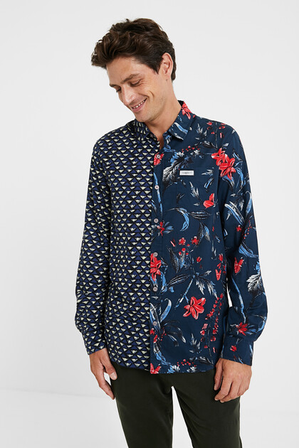 Camisa orgànica amb estampat mitja taronja