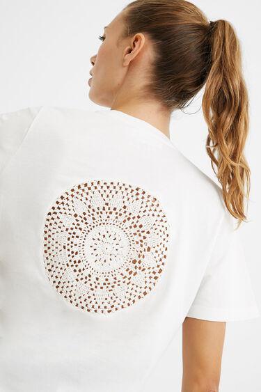 T-shirt met gehaakte mandala | Desigual