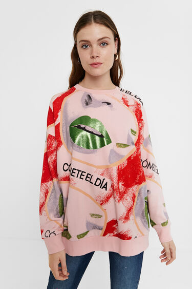 100% cotton oversize sweatshirt | Desigual
