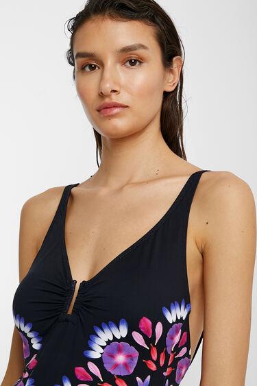 Floral mandala print swimsuit | Desigual