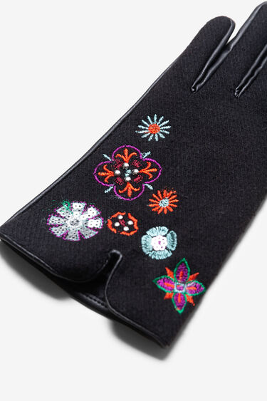 Short embroidered gloves | Desigual