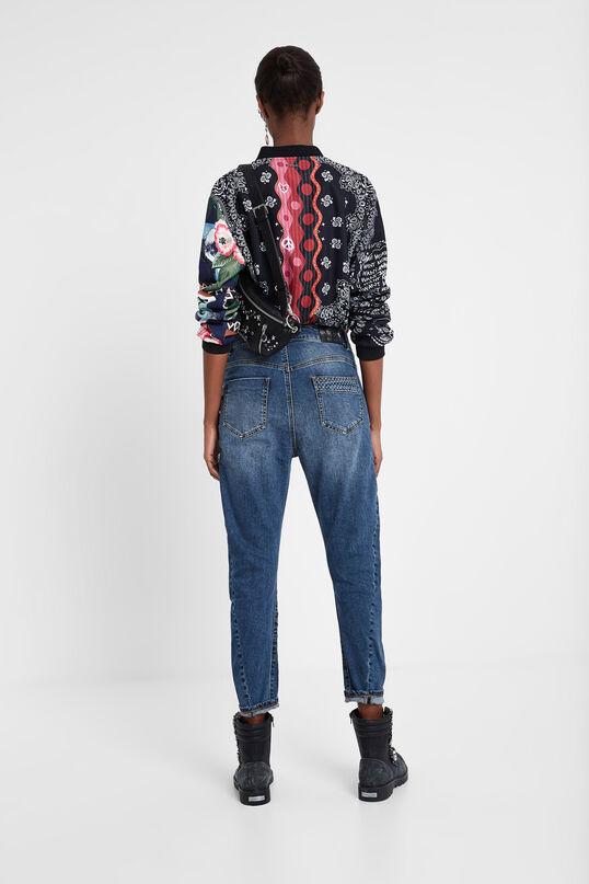 Boyfriend trousers patches | Desigual