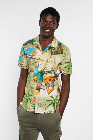 Hawaiian shirt 100% cotton   Desigual