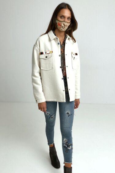 Jacket embroidered pockets | Desigual