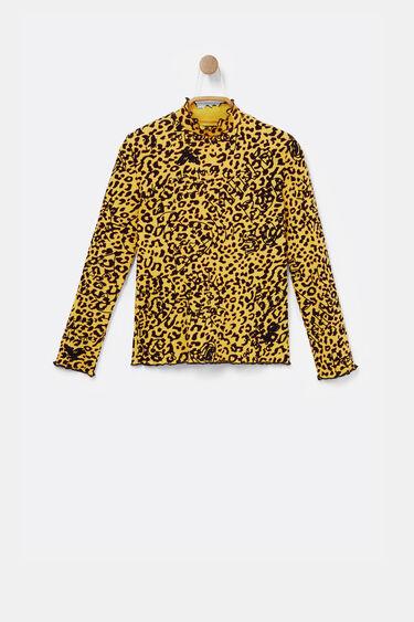 T-shirt côtelé animal print | Desigual