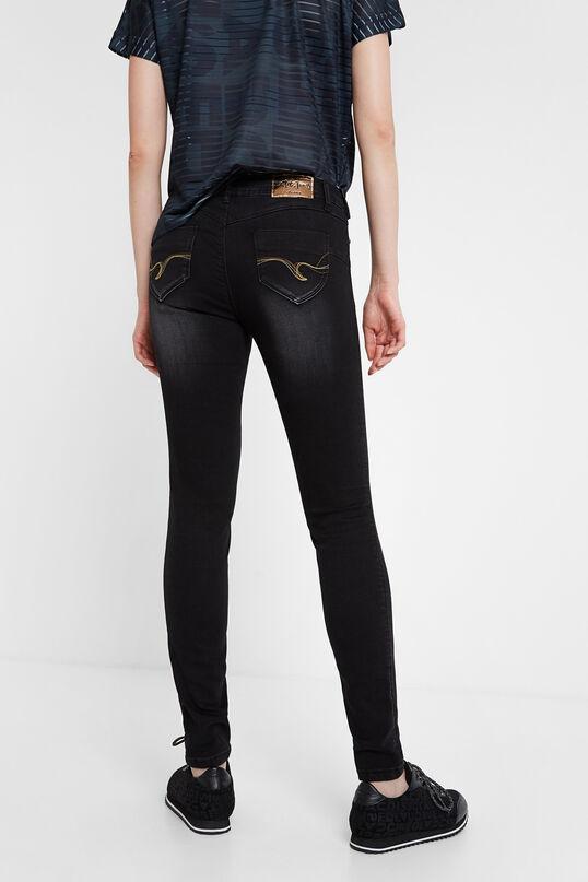 Skinny flower jean trousers | Desigual