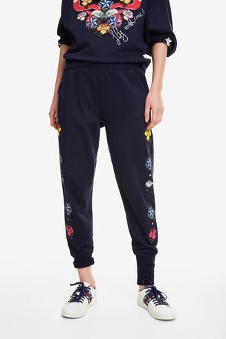 Pantalon jogging à fleurs Katia