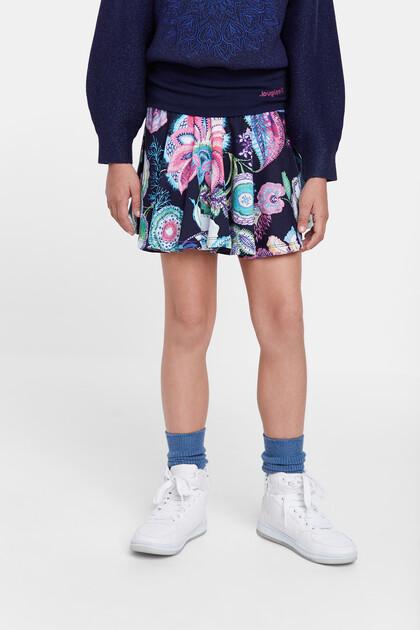 Mini skirt flounce elastic waist