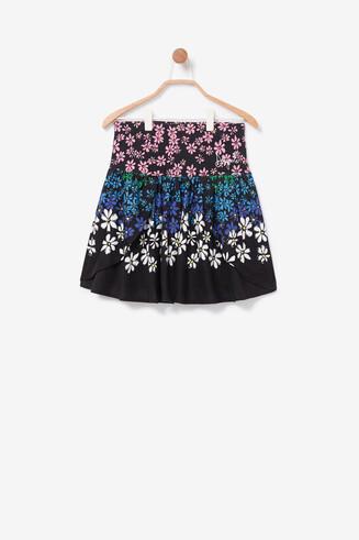 Floral miniskirt sequins