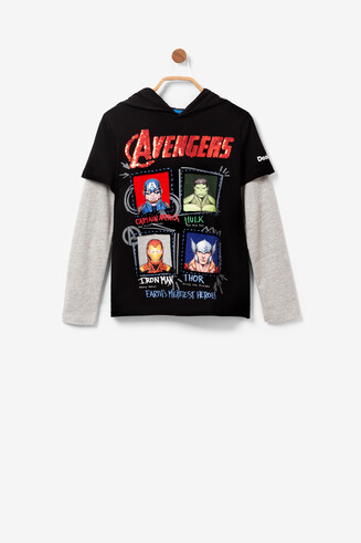 Avengers T-shirt reversible sequins