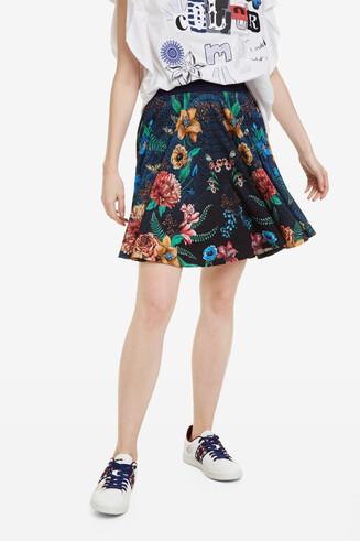 Short floral flared skirt Curiosity