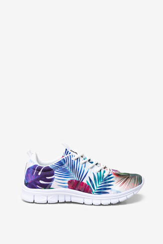 Floral Running Trainers Bio Patching