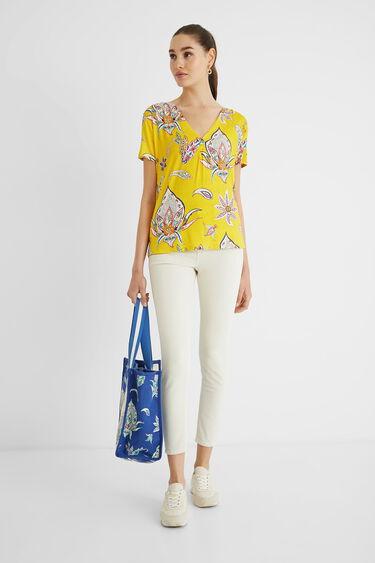 T-shirt paisley V-neck | Desigual
